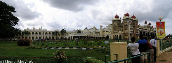 Mysore Palace Karnataka India panorama