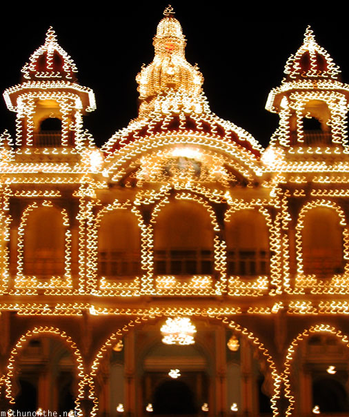 Mysore Palace lights blur
