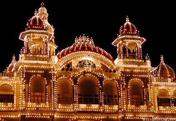 Mysore Palace lights during Dussehra Karnataka India