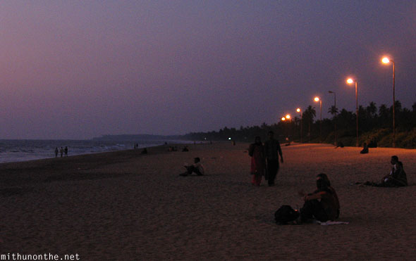 Payyambalam beach evening crowd Kannur Kerala