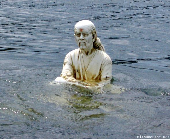 Shirdi Sai immersed idol Kaveri river