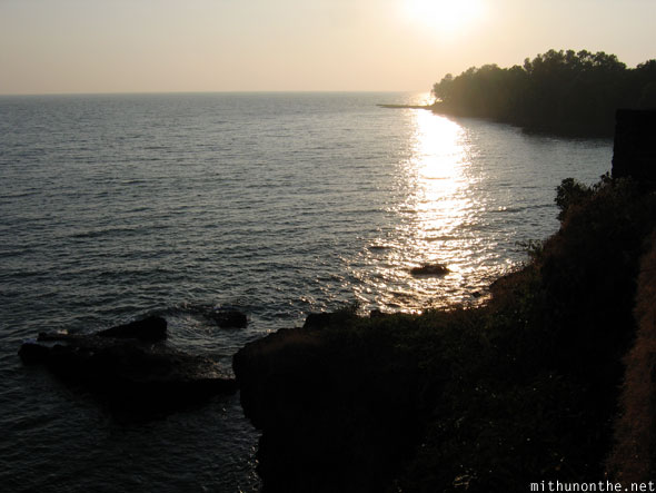 Sunset view from St. Angelo's fort Kannur Kerala