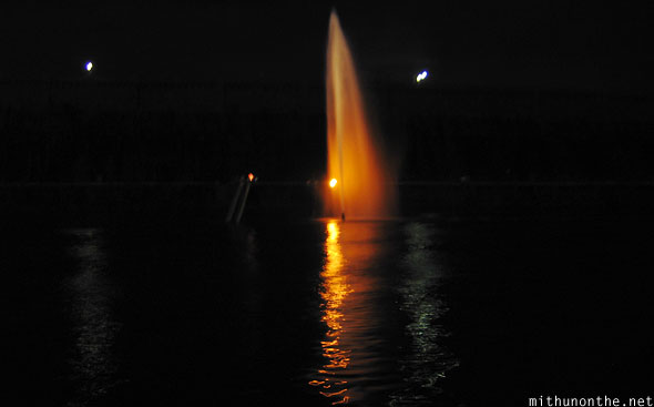 Vrindavan gardens fountain Mysore at night