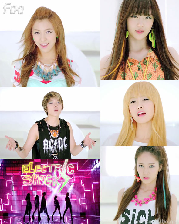 f(x) Electric Shock MV members screencap