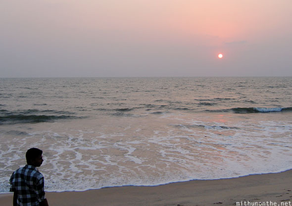 Kizhunna beach sunset Kannur Kerala