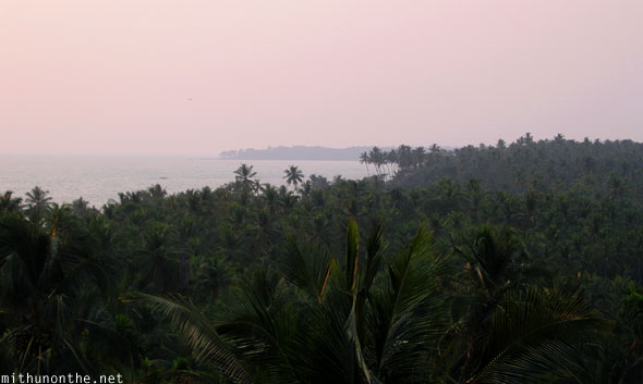 Kizhunna sea higher view Kannur Kerala