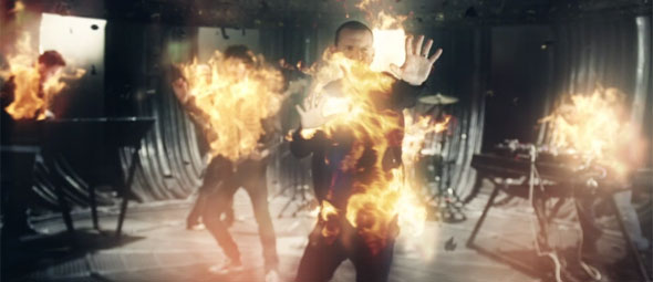 Linkin Park Burn it down fire screencap