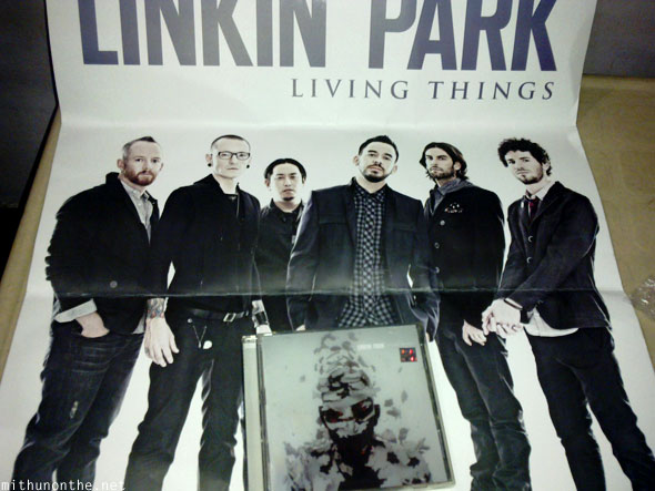Linkin Park Living Things Flipkart poster
