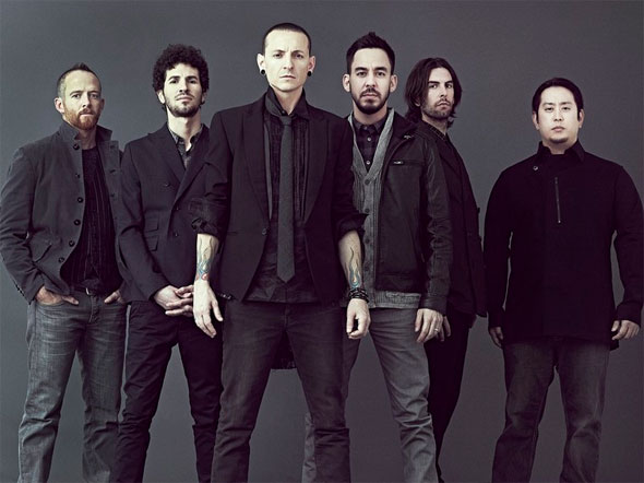 Linkin Park members Living Things promo photo