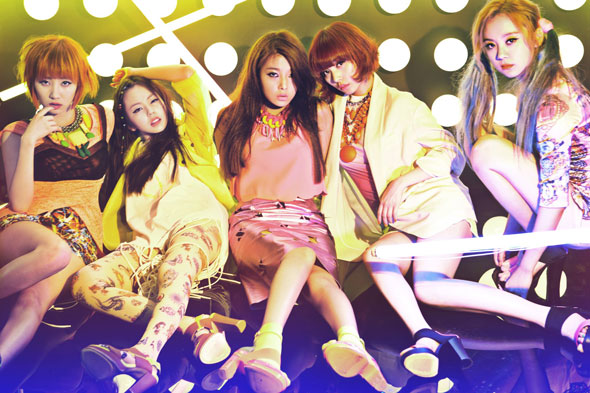Wonder Girls party album cover members