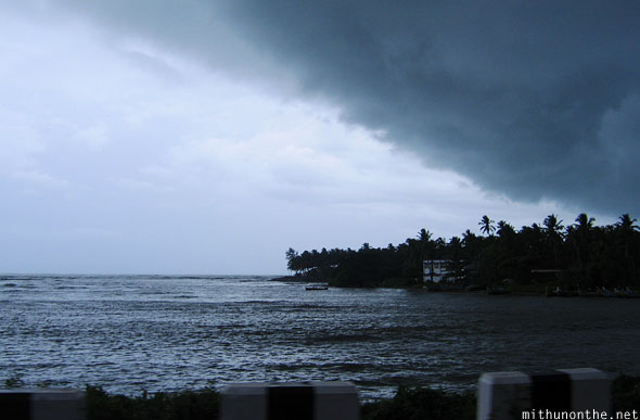 About to rain Mahe Kerala