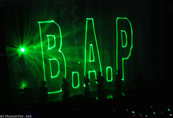 B.A.P entrance kpop nation Macau concert