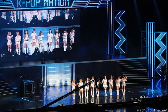 Girls Generation on-stage Cotai Arena