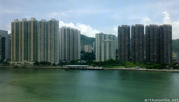 High rise apartments near Hong Kong airport