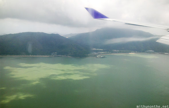 Just before landing at Hong Kong