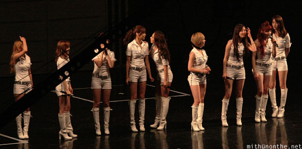 SNSD on stage Macau