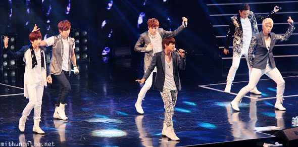 U-Kiss performing Macau kpop concert