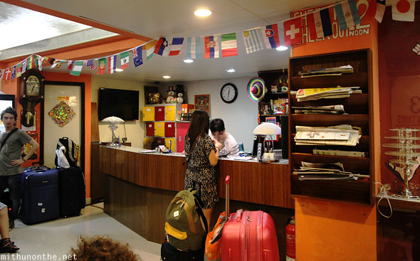 Wang Fat hostel reception Hong Kong