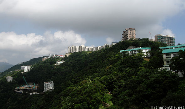 Apartment houses atop Victoria Peak Hong Kong