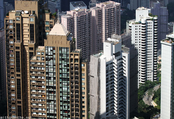 Apartment towers Hong Kong island