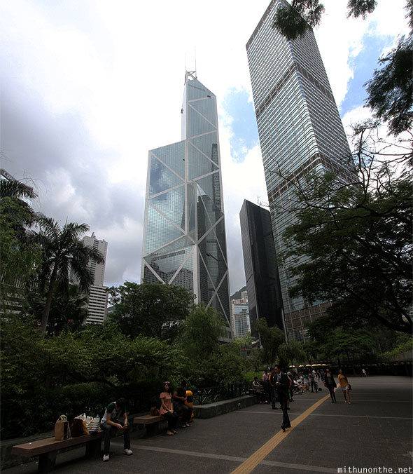 Bank of China tower park