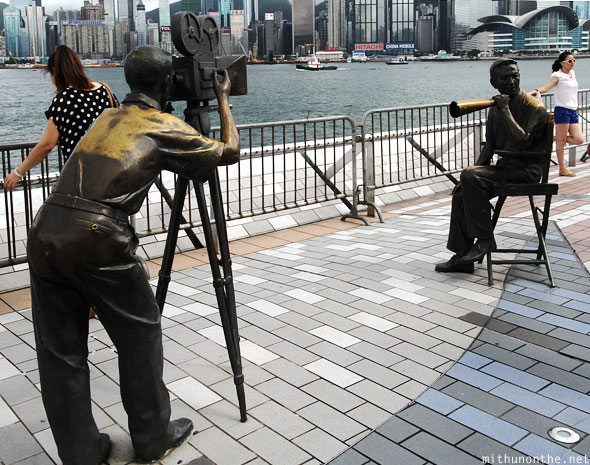 Bronze statues Avenue of the Stars Hong Kong