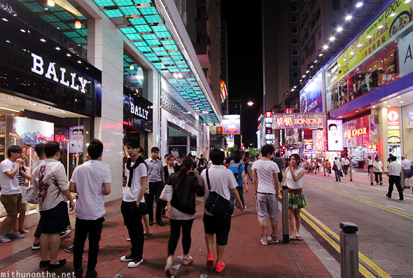 Causeway Bay at night Hong Kong