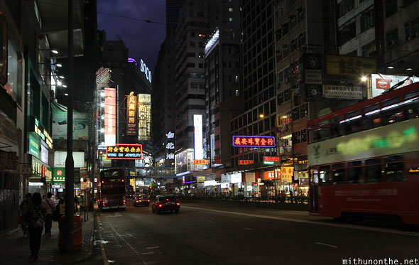 Causeway Bay Wanchai night Hong Kong