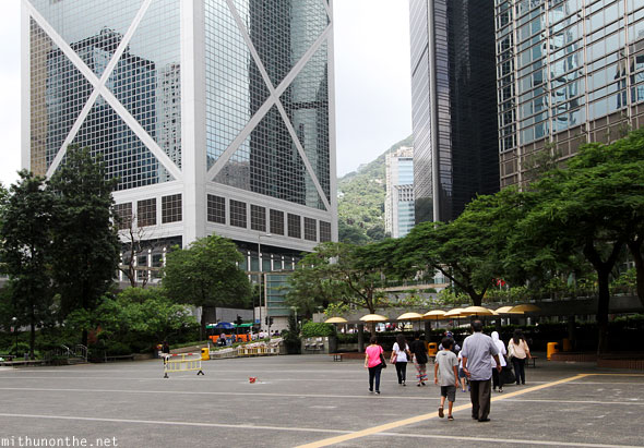 Chater garden towards The Peak tram station