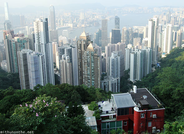 Hong Kong buildings house Victoria peak view