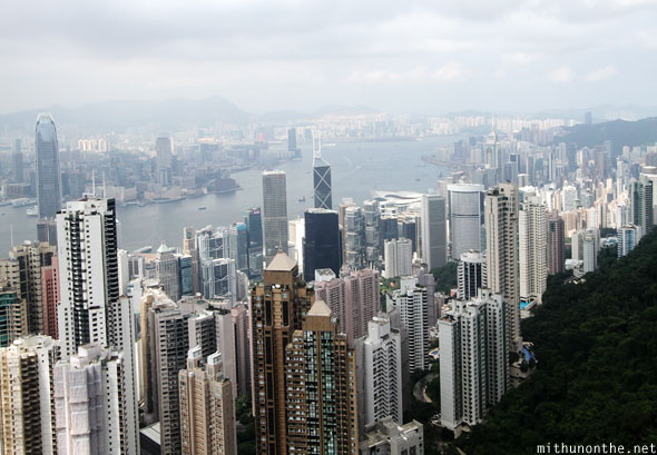 Hong Kong city skyline buildings