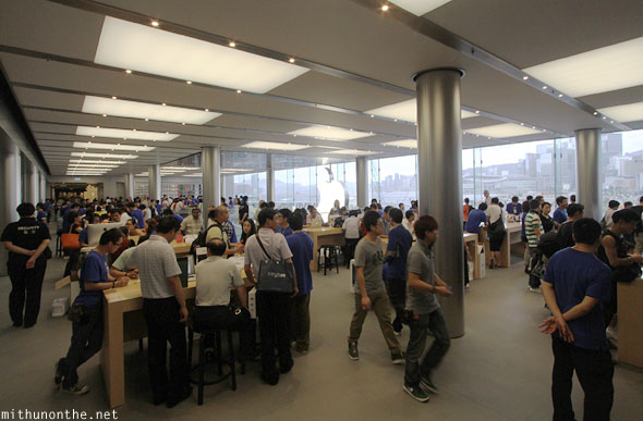 Inside Apple store Hong Kong