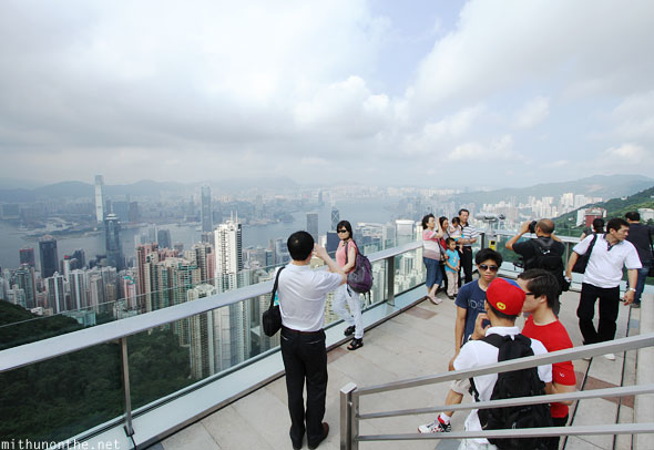 Peak tower observation deck Hong Kong