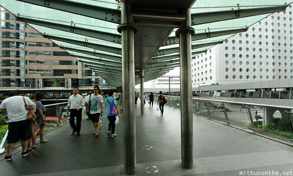 Pedestrian bridge Hong Kong