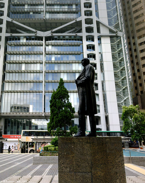 Sir Thomas Jackson statue HSBC building Hong Kong