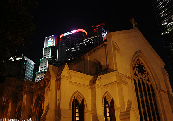 St. Johns cathedral HSBC Standard Chartered bank Hong Kong