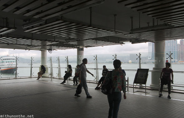 Star ferry pier waiting Hong Kong