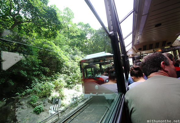 Victoria peak tram ride Hong Kong