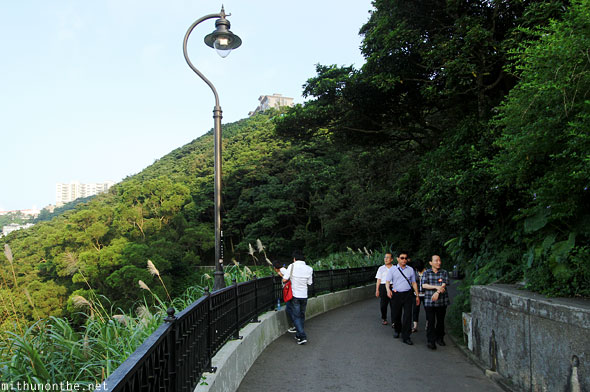 Victoria peak walk Hong Kong