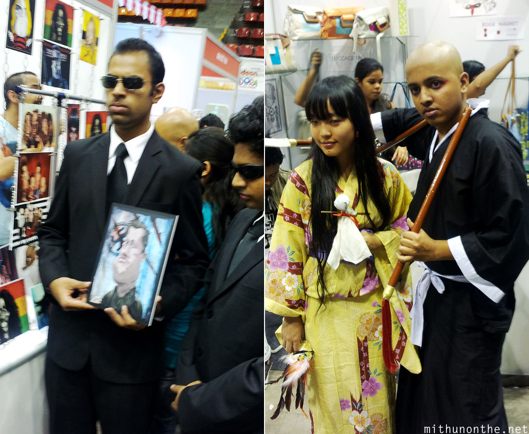 Agent Smith Matrix cosplay Comic Con Bangalore