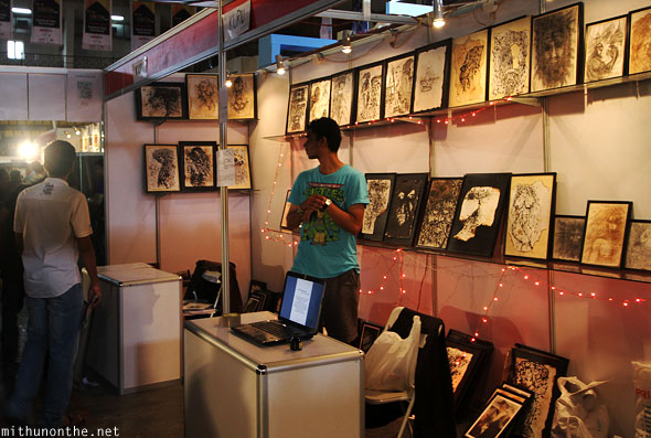 Art for sale Comic Con Bangalore