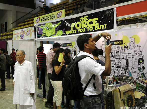 Bombaymerch stall Comic Con Bangalore