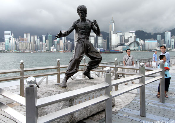 Bruce Lee statue Avenue of Stars Hong Kong