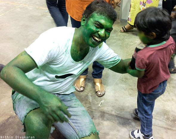 Hulk cosplay Sharat comic con Bangalore