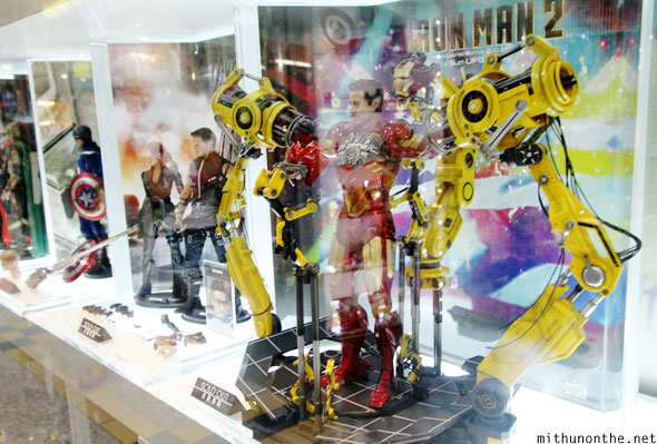 Iron Man figurine on display Hong Kong