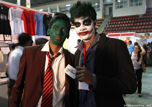 Joker cosplayers Comic Con Bangalore India