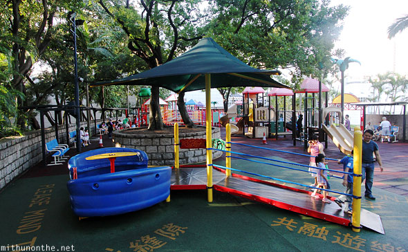 Kowloon park childrens playground Hong Kong