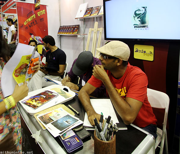 Libera Artisti Dragonmill Media artists Comic Con Bangalore