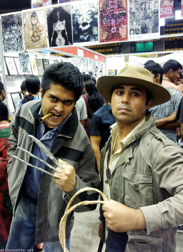 Logan Wolverine Indiana Jones cosplay Comic Con India