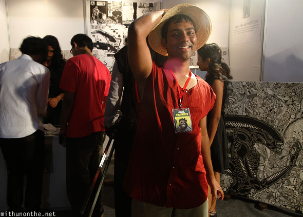 Monkey.D Luffy cosplay Comic Con Bangalore
